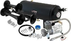 Train Horn Kit for Truck/Car/Pickup Loud System /1.5G Air Tank/150psi/3 Trumpets