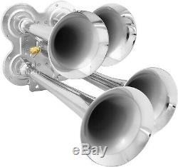 Train Horn Kit for Truck/Car/Pickup Loud System /1.5G Air Tank/150psi/4 Trumpets
