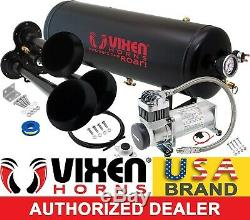 Train Horn Kit for Truck/Car/Pickup Loud System /2.5G Air Tank/200psi/3 Trumpets