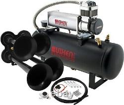 Train Horn Kit for Truck/Car/Pickup Loud System /2.5G Air Tank/200psi/4 Trumpets
