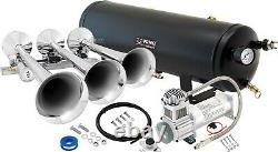 Train Horn Kit for Truck/Car/Pickup Loud System /3G Air Tank /200psi /3 Trumpets