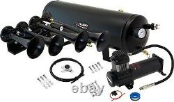 Train Horn Kit for Truck/Car/Pickup Loud System /3G Air Tank /200psi /4 Trumpets