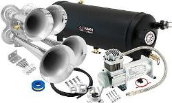 Train Horn Kit for Truck/Car/Semi Loud System /1.5G Air Tank /150psi /4 Trumpets