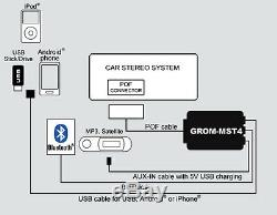 USB iPhone Android Bluetooth GROM MBO4 Car Adapter Kit for Select Mercedes #MBO4