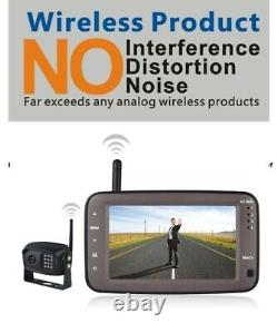 Wireless Monitor CCD Reverse Camera Kit 2.4GHz Rear View For Car And Trucks