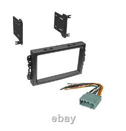 Xscorpion Car Stereo Radio Dash Kit with Harness for 2004-2008 Dodge Jeep Chrysler